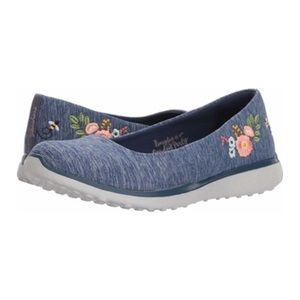 🆕Sketchers Navy Botanical Paradise Slides Shoes